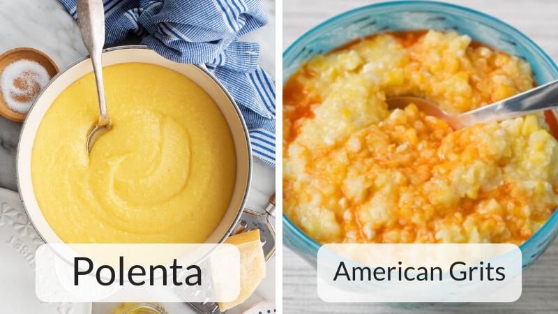 polenta vs American grits